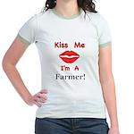 Kiss Me Farmer Jr. Ringer T-Shirt