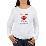 Kiss Me Farmer Women's Long Sleeve T-Shirt