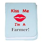 Kiss Me Farmer baby blanket