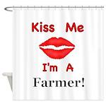 Kiss Me Farmer Shower Curtain