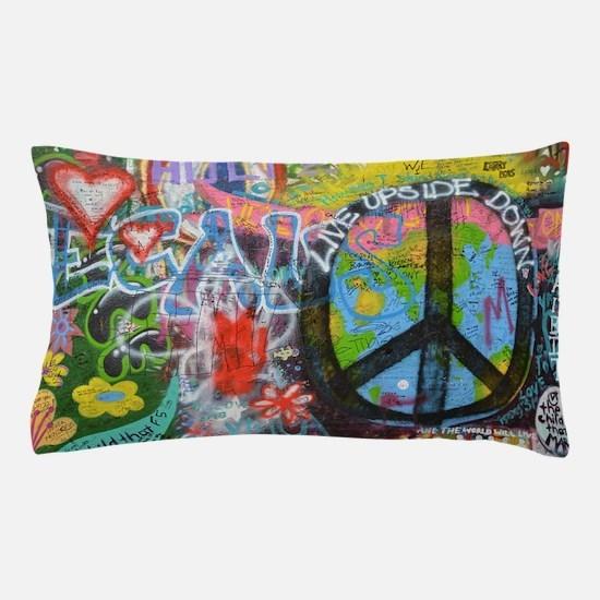 Cute Peace sign Pillow Case