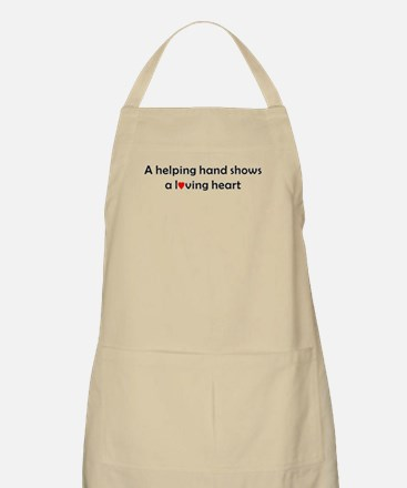 QUOTE A helping handshows a Loving Heart Apron