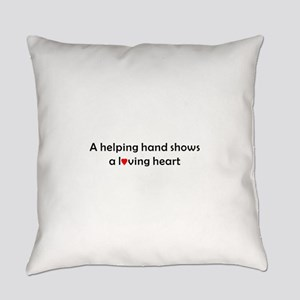 QUOTE A helping handshows a Loving Everyday Pillow