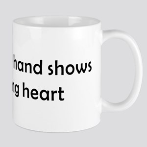 QUOTE A helping handshows a Loving Heart Mugs