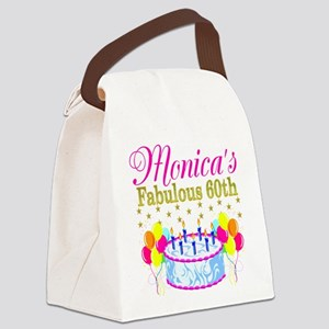 SNAZZY 60TH DIVA Canvas Lunch Bag