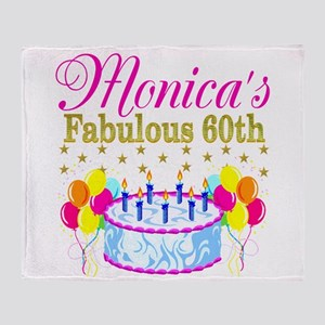 SNAZZY 60TH DIVA Throw Blanket