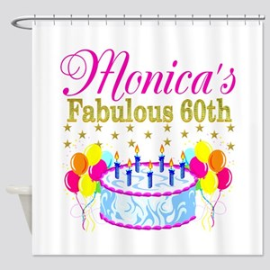 SNAZZY 60TH DIVA Shower Curtain