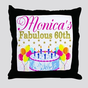 SNAZZY 60TH DIVA Throw Pillow