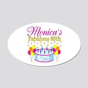 SNAZZY 60TH DIVA 20x12 Oval Wall Decal