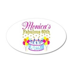 SNAZZY 60TH DIVA Wall Decal