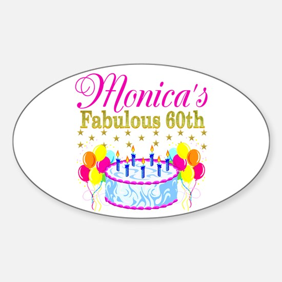 SNAZZY 60TH DIVA Sticker (Oval)