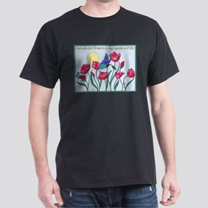 Flower Garden with Butterfly and Sun T-Shirt