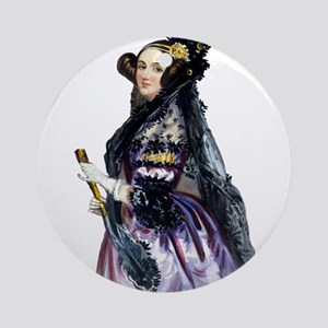 ada lovelace Round Ornament
