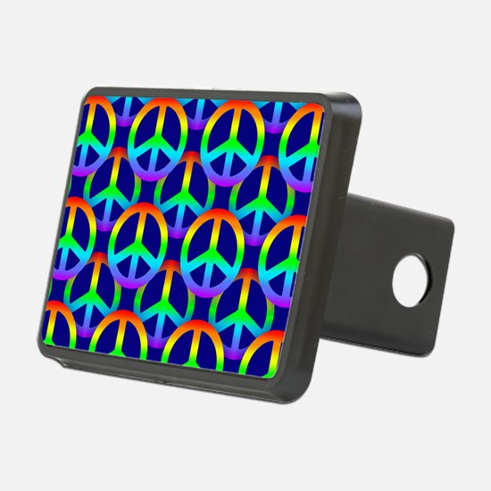 Rainbow Peace Sign Hitch Cover