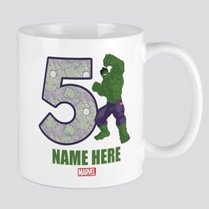 Personalized Hulk Age 5 Mug