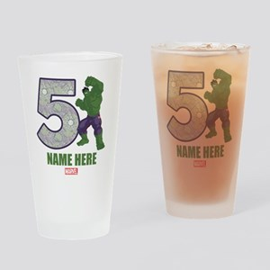 Personalized Hulk Age 5 Drinking Glass