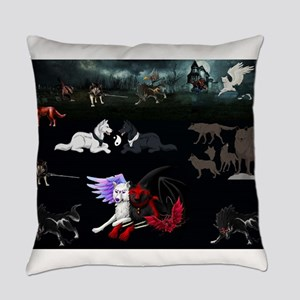 Dark Wolves Everyday Pillow