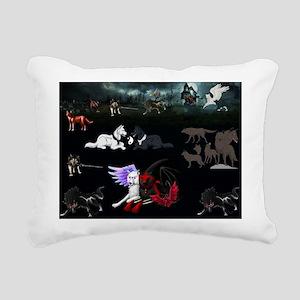 Dark Wolves Rectangular Canvas Pillow