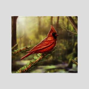 cardinal bird Throw Blanket