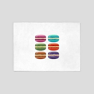 rainbow macarons 5'x7'Area Rug