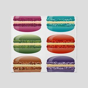 rainbow macarons Throw Blanket