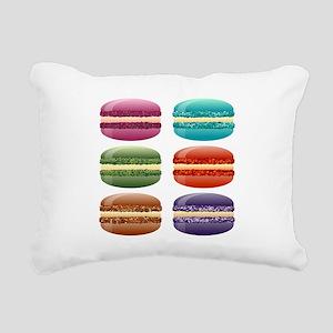 rainbow macarons Rectangular Canvas Pillow
