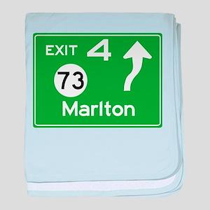 NJTP Logo-free Exit 4 Marlton baby blanket