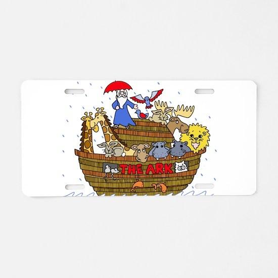 Noah's Ark Aluminum License Plate