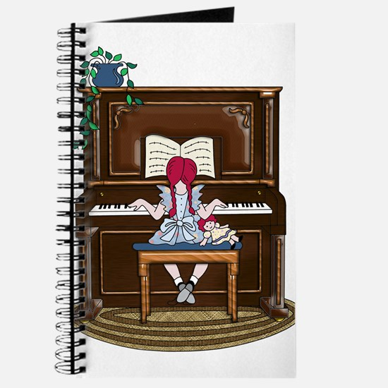 Little Girl Practicing Piano Journal