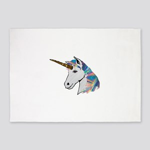 glitter unicorn 5'x7'Area Rug
