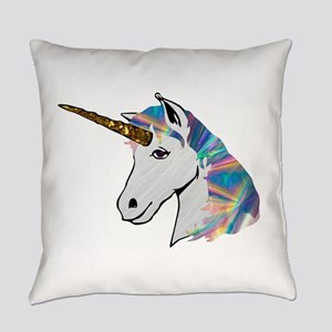 glitter unicorn Everyday Pillow