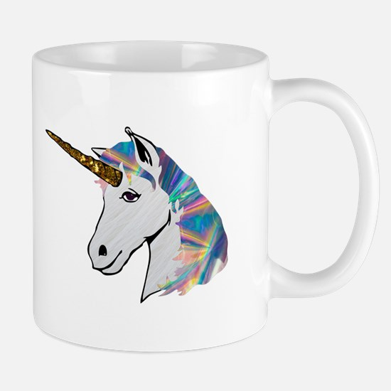 glitter unicorn Mugs