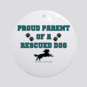 Rescue Dog Parent Ornament (Round)