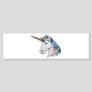 glitter unicorn Bumper Sticker