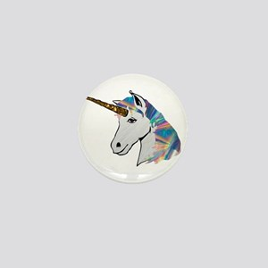 glitter unicorn Mini Button