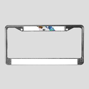 glitter unicorn License Plate Frame