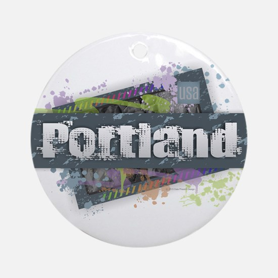 Portland Design Round Ornament