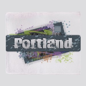 Portland Design Throw Blanket