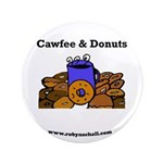 Cawfee & Donuts Button
