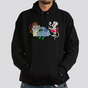 Mouse Mom Caring for Sick Child Hoodie (dark)