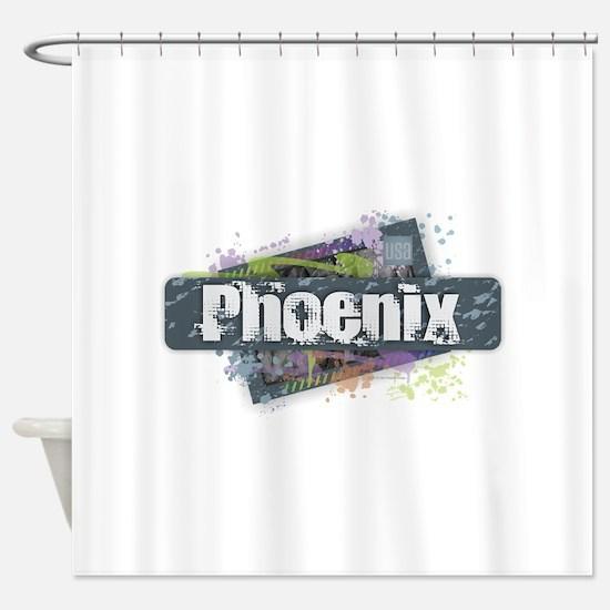 Phoenix Design Shower Curtain