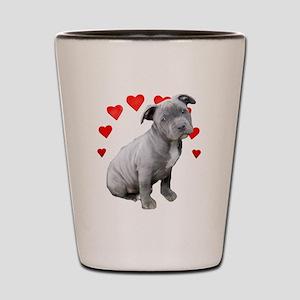 Valentine's Pitbull Puppy Shot Glass