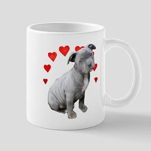 Valentine's Pitbull Puppy Mugs