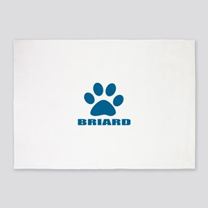 Briard Dog Designs 5'x7'Area Rug