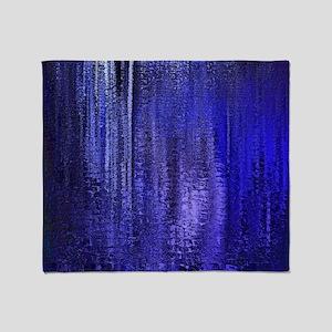 Abstract Blue Rain Throw Blanket