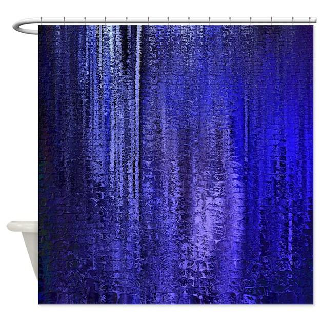 Abstract Blue Rain Shower Curtain By FamilyandBaby