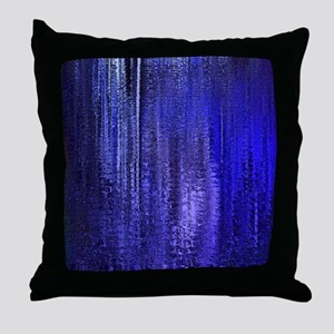 Abstract Blue Rain Throw Pillow