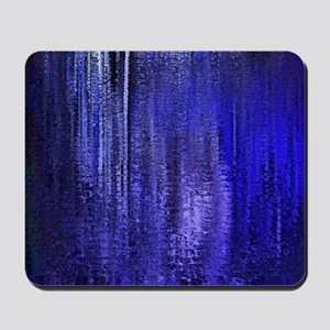Abstract Blue Rain Mousepad