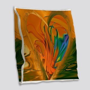 Abstract Heart Burlap Throw Pillow