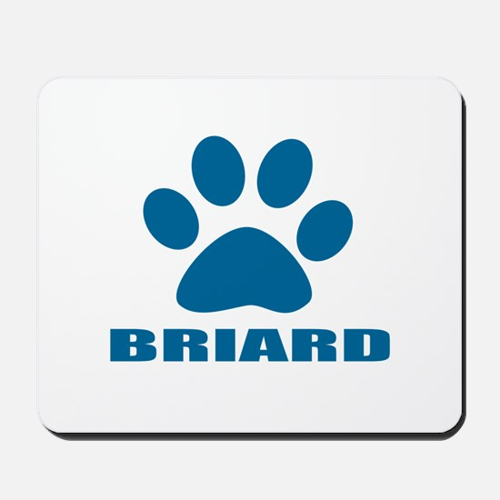 Briard Dog Designs Mousepad